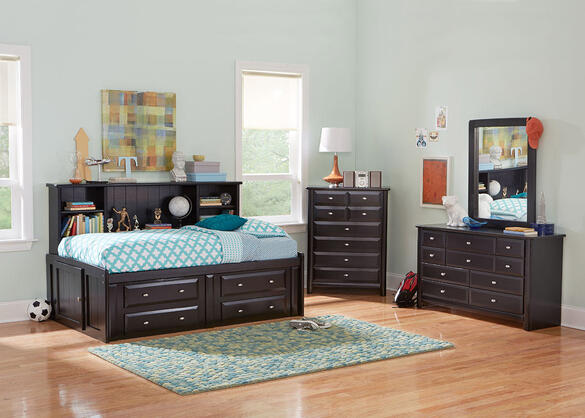 CATALINA 6PC FULL BLK ROOMSAVER BEDROOM BLACK