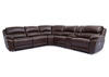 San Mateo 6pc Power Leather Sectional Brown