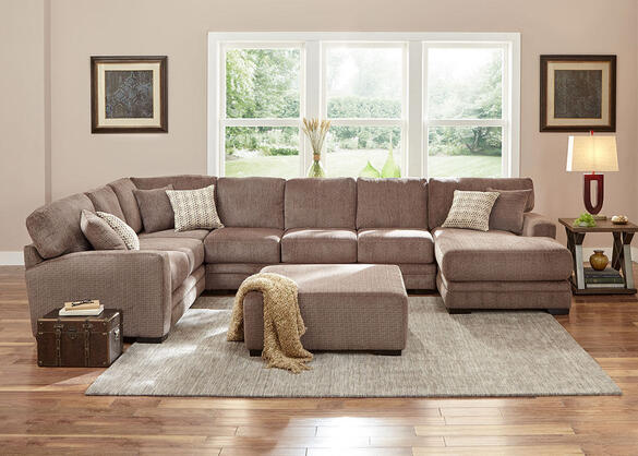 Easton Gray 3 Pc. Sectional w/Chaise Sectional