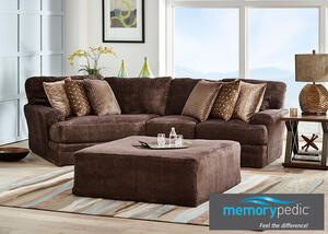 Denali Chocolate 2 Pc Sectional W Cuddler Chaise Reverse