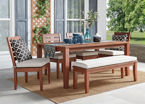 Newport Brown 6 Pc. Dinette w/Cushions