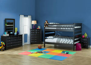 Catalina Black 4 Pc. Full Bunk Bedroom