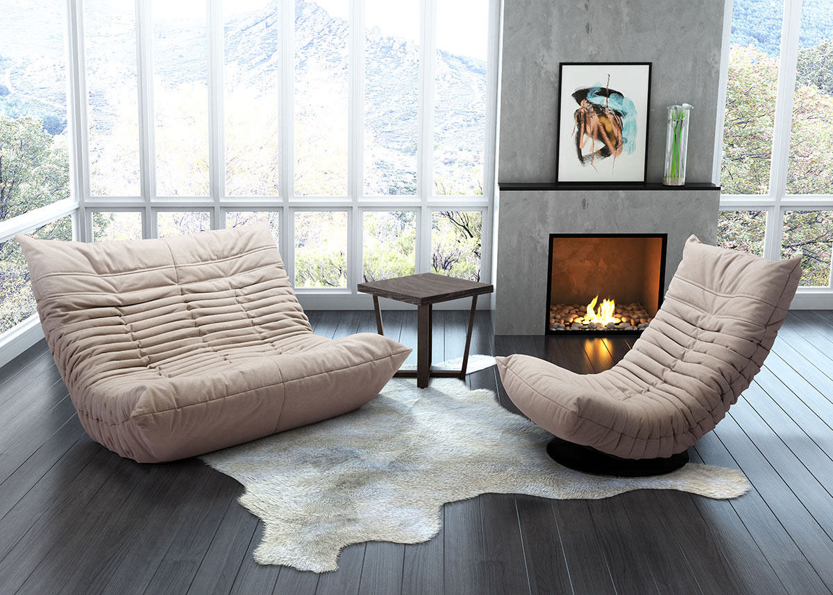 Delicieux Down Low Beige 2 Pc. Living Room