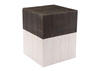 Wooden Square Garden Seat Brown