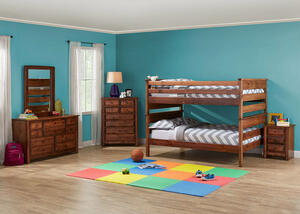 Catalina Chestnut 4 Pc. Full Bunk Bedroom