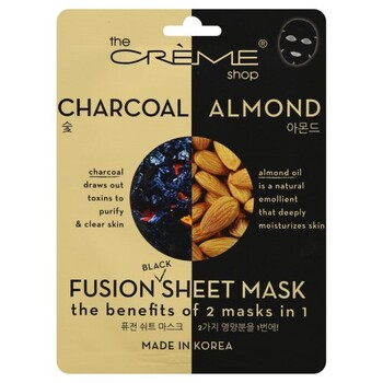 Creme Shop 2-In-1 Charcoal+Almond Mask 1 Pack
