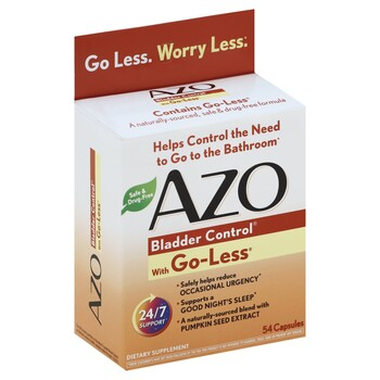 Azo Bladder Control >> Azo Bladder Control With Go Less 54 Capsules Harmon Face Values