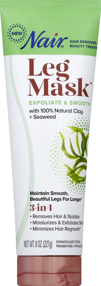 Nair Leg Mask Clay Seaweed 8oz Harmon Face Values