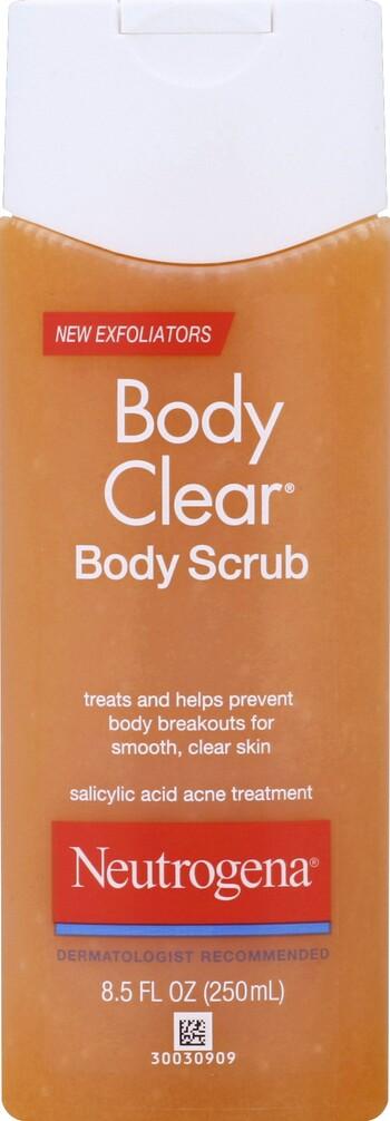 Neutrogena Acne Body Clear Body Scrub With Microbeads 8 5 Oz