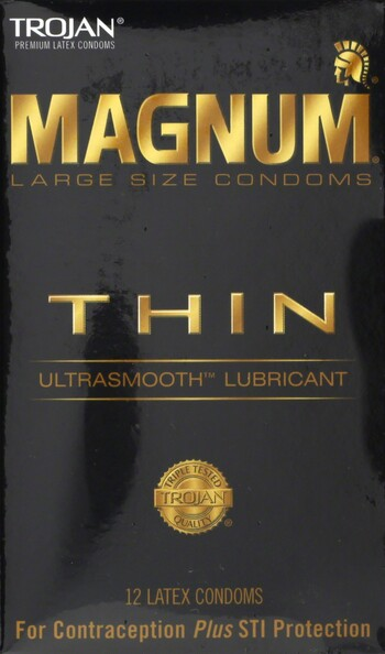 Trojan Magnum Condom Thin 12 Count