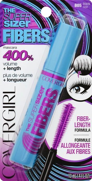 2e23eac05e6 Cover Girl Super Sizer Fibers Mascara Black - Harmon Face Values
