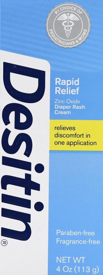 Desitin Rapid Relief Creamy 4 oz. Diaper Rash Cream ...