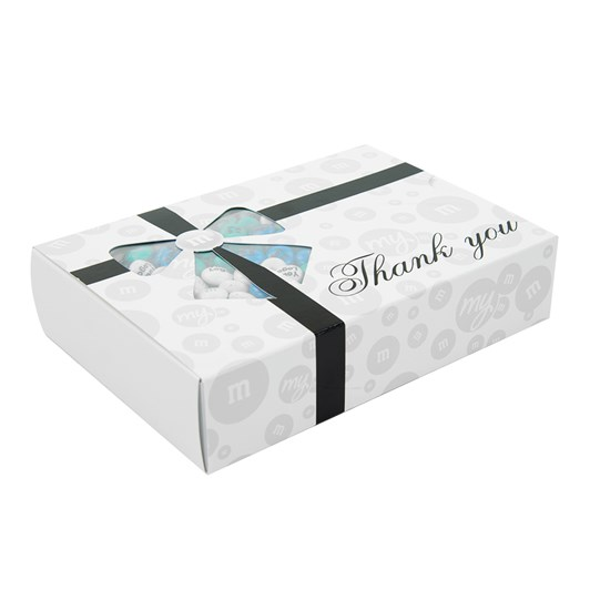 Personalizable M&M'S Business Thank You Gift Box, Side View of Thank You Gift Box for Width/Depth