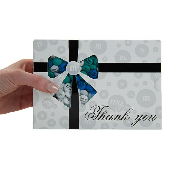 Personalizable M&M'S Business Thank You Gift Box, Scale View of Thank You Gift Box for Size