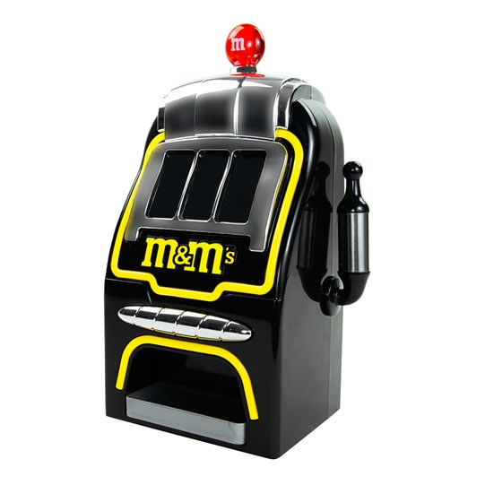 "Digital Slot Machine M&M'S Candy Dispenser - Product shown in ""off"" state."