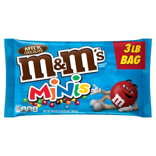 M&M'S Milk Chocolate MINIS, 3 lb Bulk Candy Bag