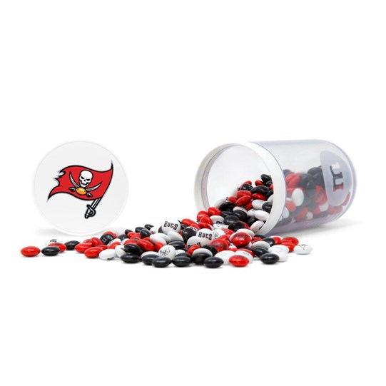 Tampa Bay Buccaneers NFL M&M'S Candy Gift Jar - Candy spilled
