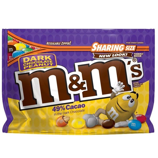M&M'S Dark Chocolate Peanut 10.1 oz Bag, Sharing Size
