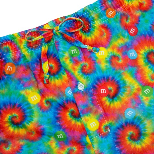 Close up of drawstring and waist on Men's M&M'S Tie Dye Lounge Pants