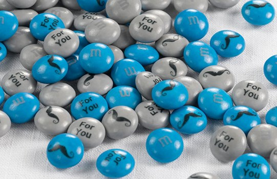 Personalized Father's Day gift M&M'S on a white background