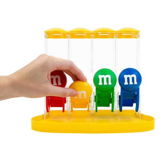 M&M'S Four Tube Dispenser - Functionality and scale