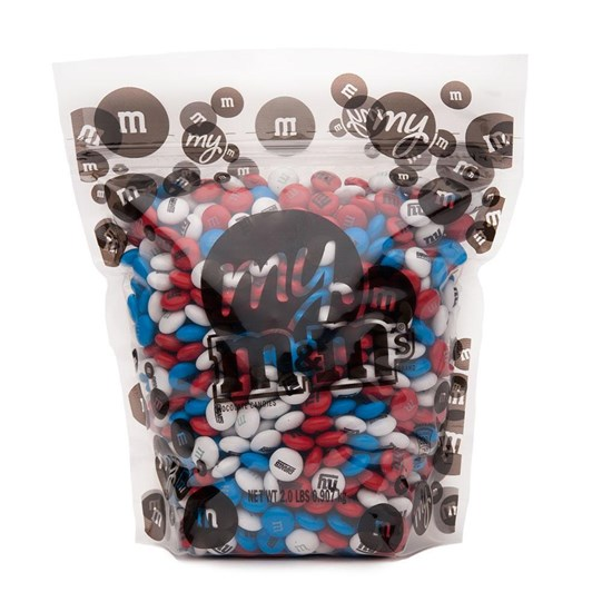 New York Giants NFL M&M'S Bulk Candy 2lb