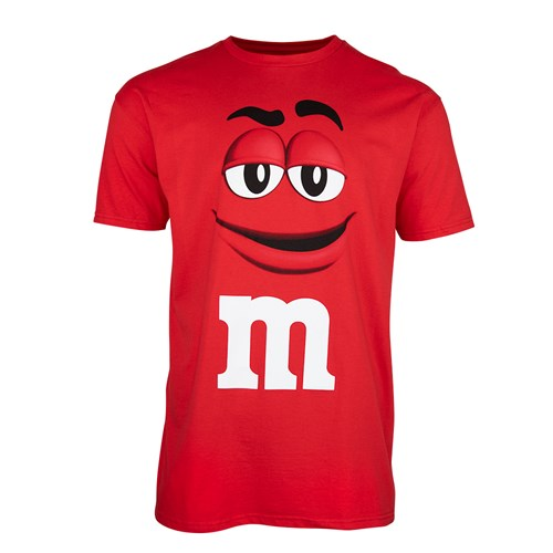 Adult M&M'S Character Big Face T-Shirt, Front of T-Shirt with M&M'S Character