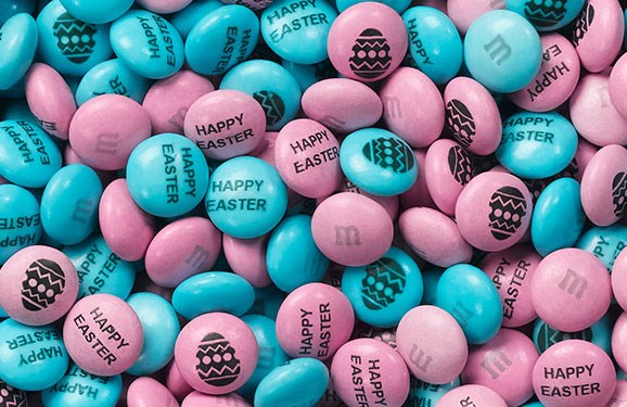 Personalized Easter candy M&M'S