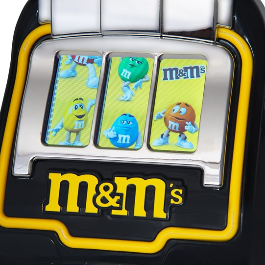 Close up of screen on the Digital Slot Machine M&M'S Candy Dispenser