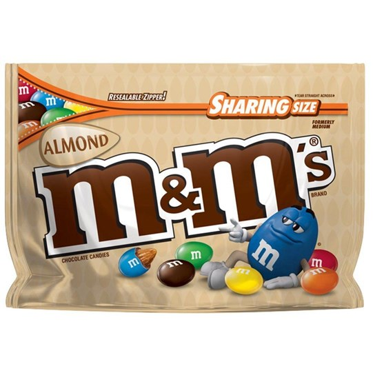 M&M'S Almond Chocolate 9.3 oz Bag, Sharing Size