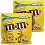M&M'S Peanut Chocolate Candy, 38 Oz Party Size Bag (Pack of 2), Front View of 2 Party Size Bags of Peanut M&M'S
