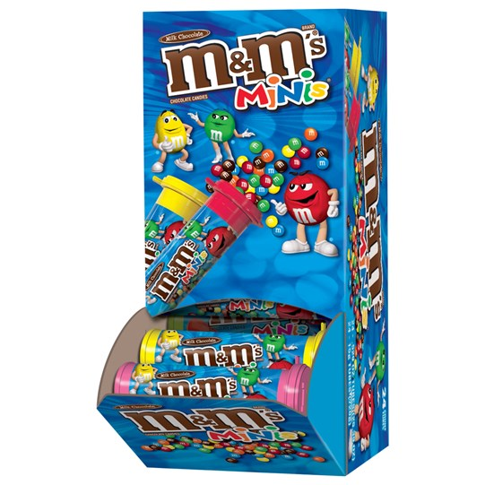 M&M'S MINIS Milk Chocolate Candy, 1.08 Oz Tubes (Pack of 24)