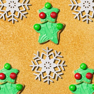 M&M'S Star Stacked Christmas Tree Sugar Cookies