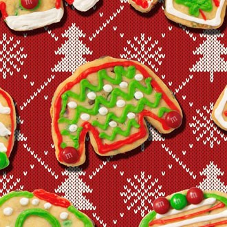 M&M'S Ugly Holiday Sweater Cookies