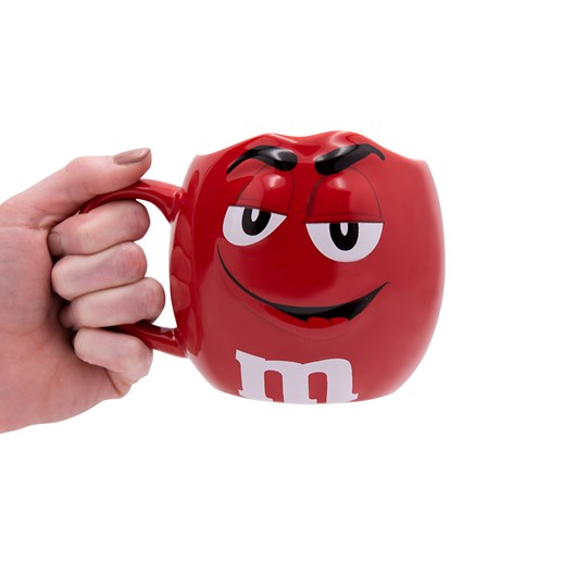 M&M'S Character Figural Mug, Scale View of M&M'S Character on Front of Coffee Mug with Handle for Size