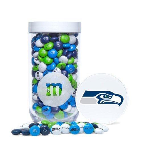 Seattle Seahawks NFL M&M'S Candy Gift Jar - Logo/emblem on lid