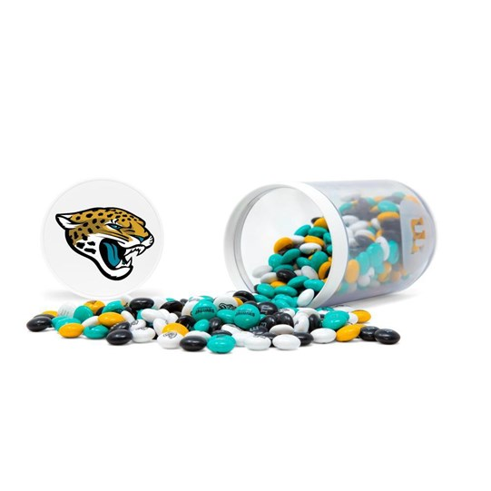 Jacksonville Jaguars NFL M&M'S Candy Gift Jar - Jaguars-themed M&M'S