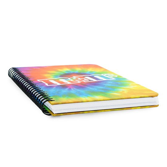 Side view of M&M'S Tie Dye (spiral) Notebook