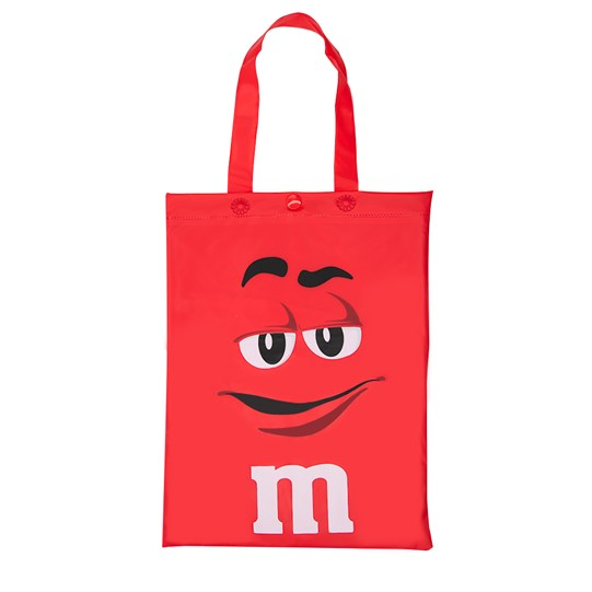 M&M'S Character Poncho In Tote Bag, Front View of Character Bag Poncho Comes In