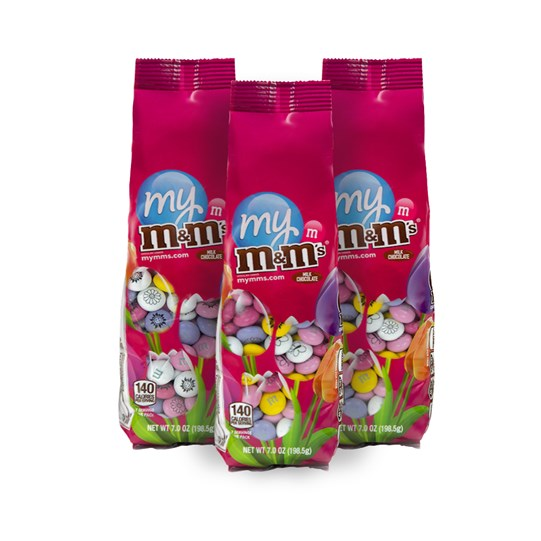 Pre-Designed Spring M&M'S Flower Candy Bags, 3 pack