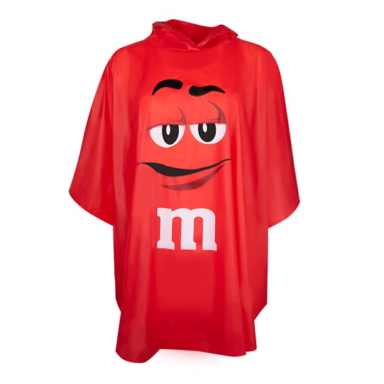 M&M'S Character Poncho In Tote Bag, Front View of Character Poncho