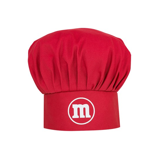 "M&M'S Character Apron & Hat Set, Front View of M&M'S Hat with White ""m"" Logo"