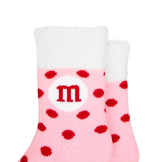 Youth M&M'S Cozy Valentine's Day Sherpa Socks Basic View