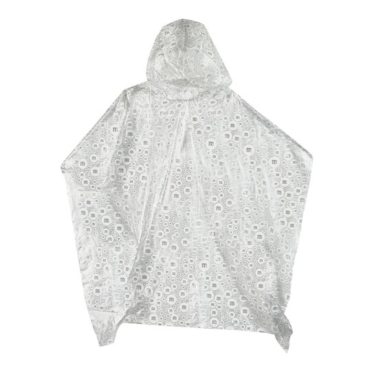 M&M'S M Logo Print Poncho in Ball, View of Poncho