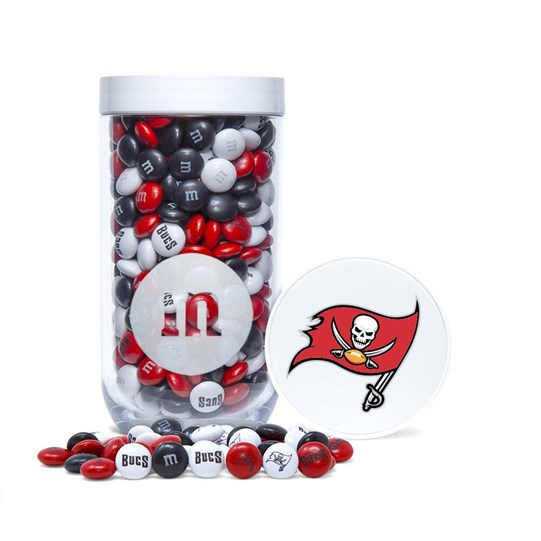 Tampa Bay Buccaneers NFL M&M'S Candy Gift Jar - Logo/emblem on lid