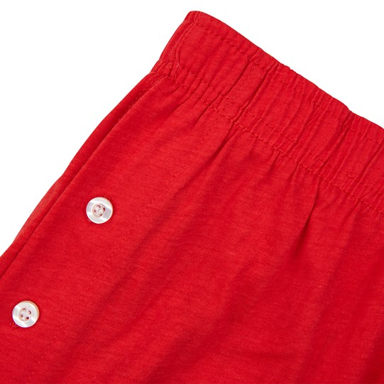M&M'S Character Big Face Lounge Shorts, Close Up View of Lounge Shorts Showing Button Detailing