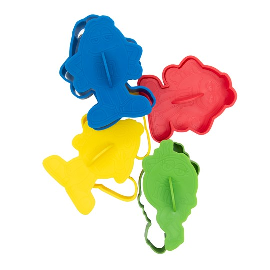 M&M'S Character Cookie Cutter Set, Back View of M&M'S Character Cookie Cutters in Blue, Yellow, Red & Green Characters