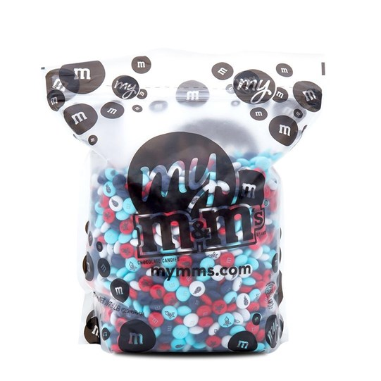 Tennessee Titans NFL M&M'S Bulk Candy, Front View of 5lb Bulk Bag Filled with Titans-themed M&M'S