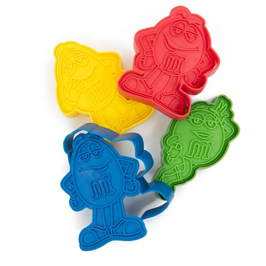 M&M'S Character Cookie Cutter Set, Front View of M&M'S Character Cookie Cutters in Blue, Yellow, Red & Green Characters