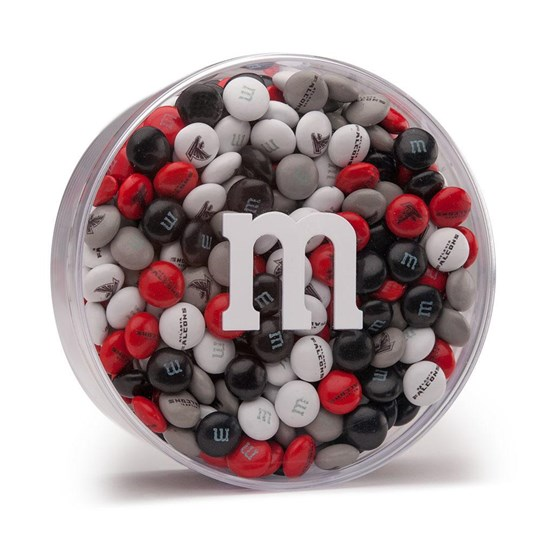 Atlanta Falcons NFL M&M'S Round Gift Box - Includes pre-printed M&M'S with Falcons logos
